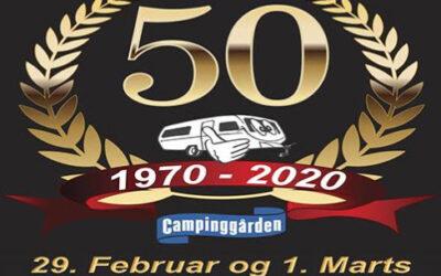 Campinggården i Slagelse fejrer 50 års jubilæum.